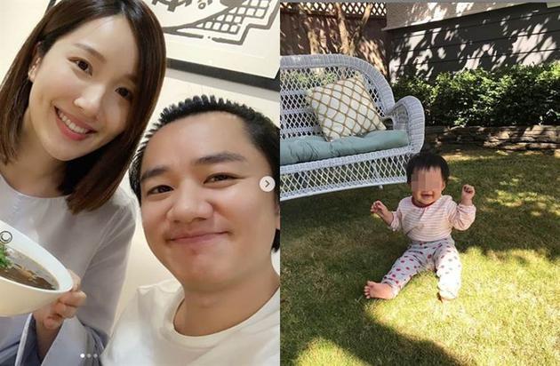 王祖蓝、李亚男去年生下一女。