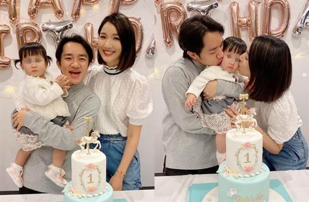 王祖蓝和李亚男日前帮爱女庆生。