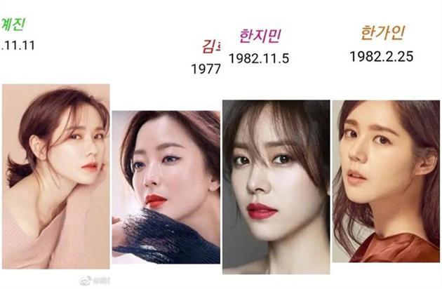 韩国十大美女之孙艺珍、金喜善、韩志旼、韩佳人