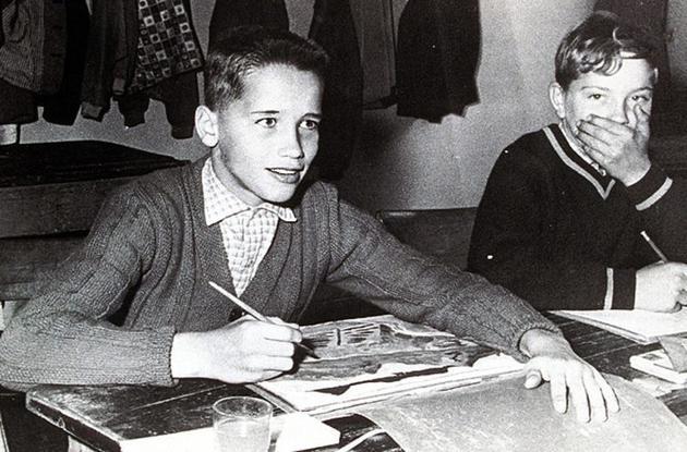 年少时的施瓦辛格。