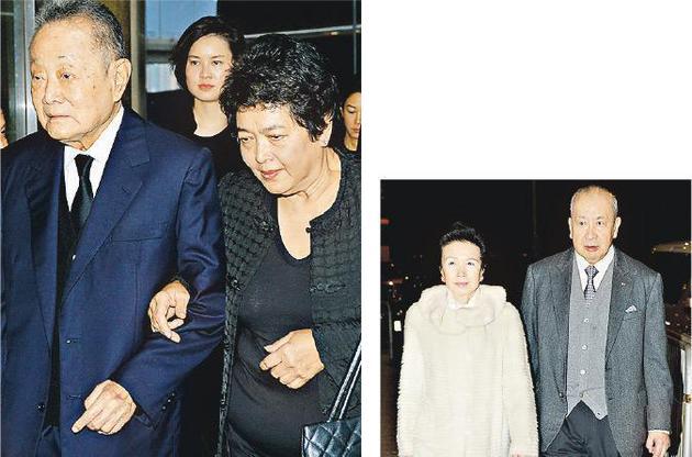 许世勋丧礼固然矮调,但家族显耀,不少商界名流前来致悲,包括李国宝夫妇(右图),以及近年很少露面的郭鹤年(左图)。