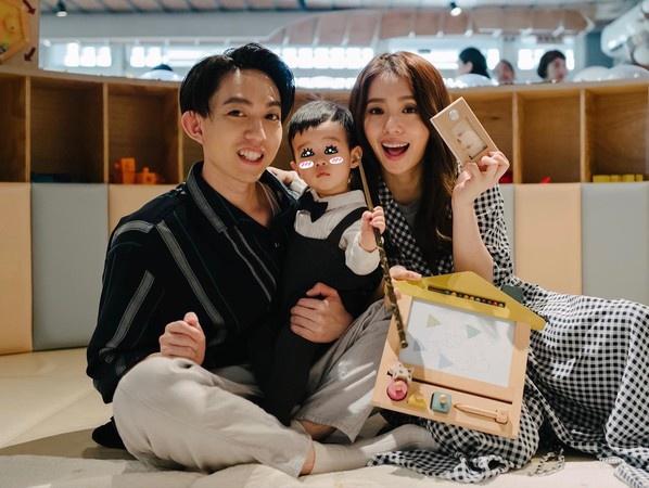 林宥嘉、丁文琪和儿子