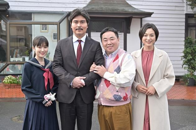 日剧《老爸的第二春》演员,左首福本莉子、幼泽征悦、塚地武雅、本上真奈美