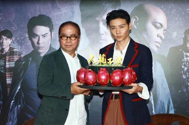 张晋与陈果导演宣传《九龙不败》