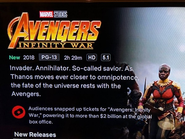 Netflix更新《复怨者联盟3:无限搏斗》关于萨诺斯的叙述。