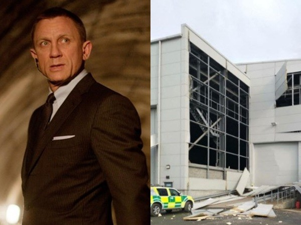 第25部《007》片场爆炸,外墙也坍塌了 。