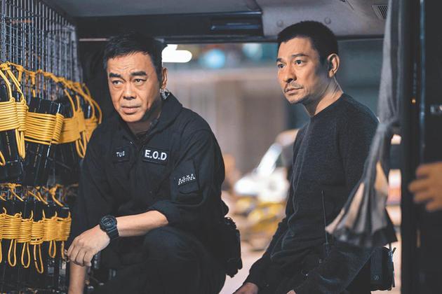 两大影帝刘德华(右)与刘青云相隔18年再度配相符《拆弹行家2》