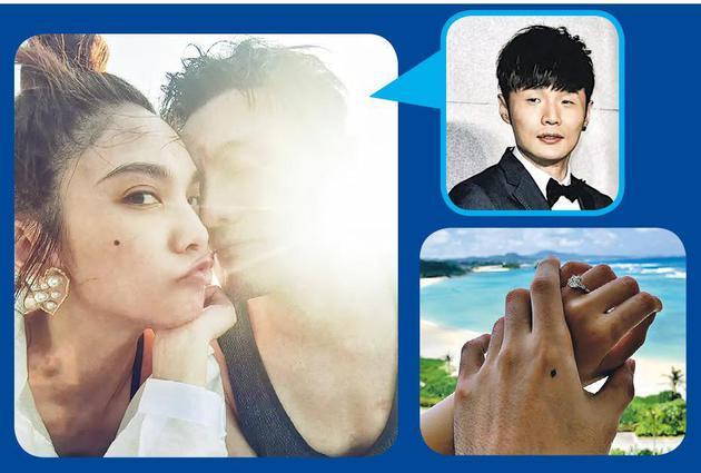 7月11日零时,杨丞琳上载与李荣浩的甜蜜合照(左图),当时还没求婚,到了上午李荣浩晒杨丞琳戴着钻戒与他的牵手照片(右图),宣布求婚成功。
