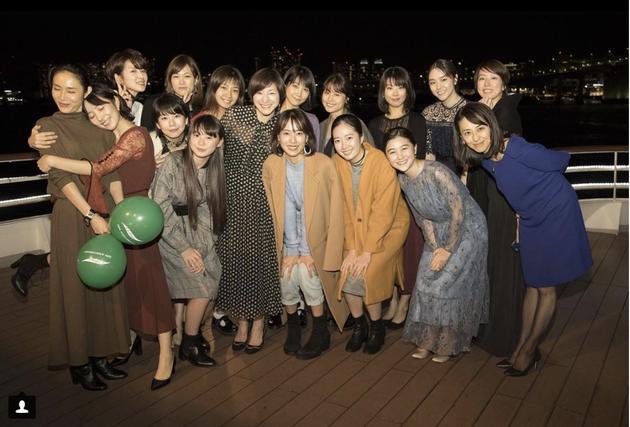 户田惠梨香在Instagram上晒出的合照