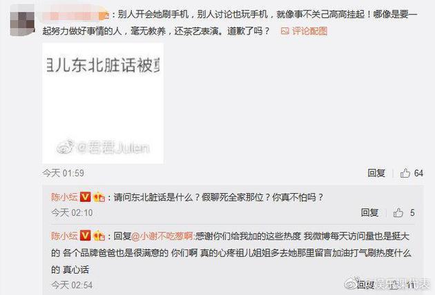 陈小纭回怼网友:真心疼祖儿姐姐就多去刷热度