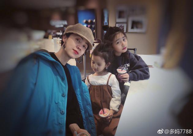 孙莉与两个女儿