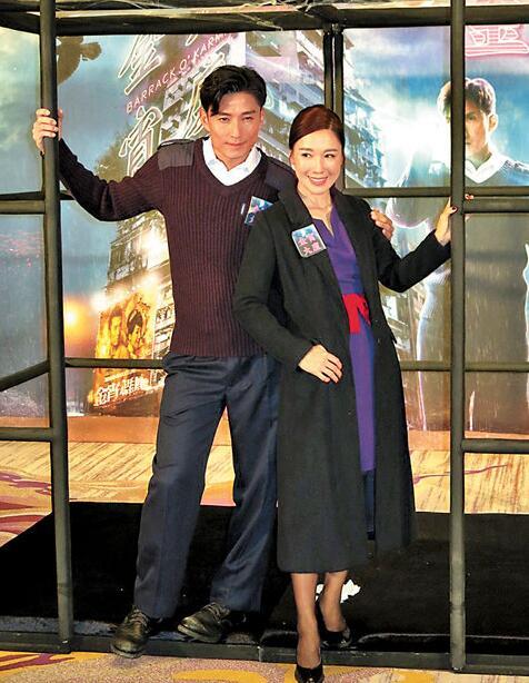 陈山聪和李施嬅对新剧报捷齐声表示很开心。