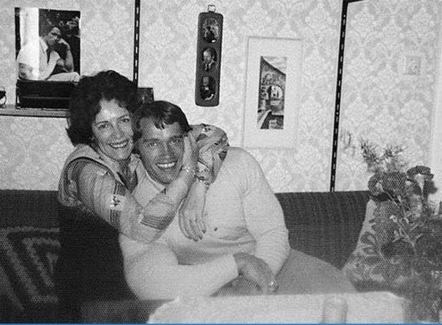 施瓦辛格和妈妈。