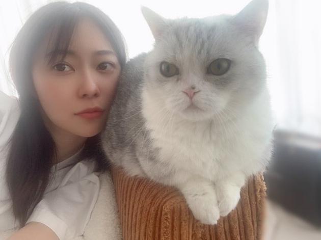 指原莉乃更新推特,晒与爱猫合拍小脸照