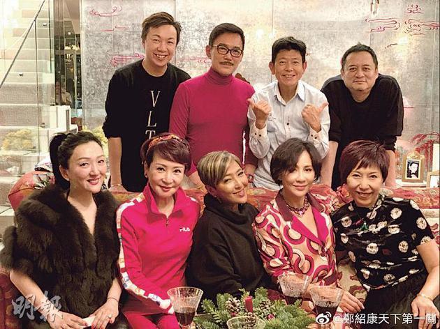 刘嘉玲邀请好友到家中吃冬至饭。
