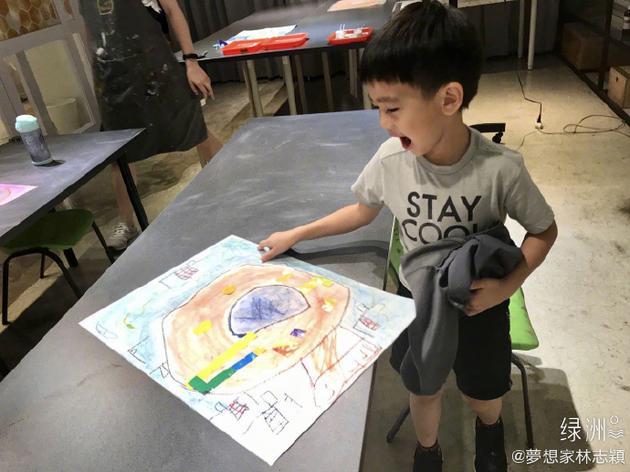 林志颖儿子的画作