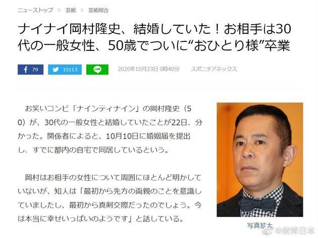 冈村隆史结婚