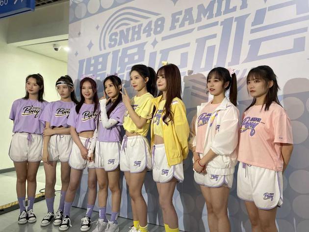 SNH48偶像运动会举办 孙芮C位领舞《加油女孩》