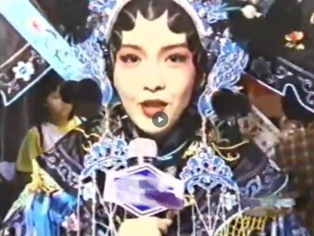 周慧敏25年前京剧造型花絮曝光 一个眼神全沦陷