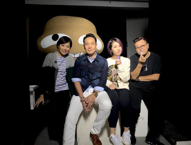 杨千嬅与拍摄主创。