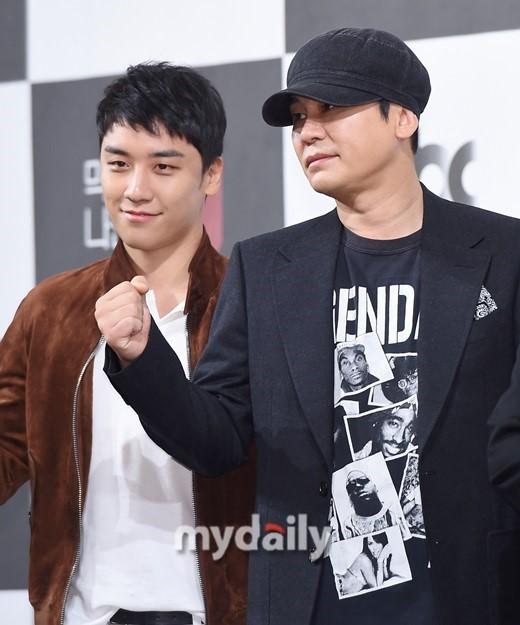 YG娱乐公司原代表梁铉锡与原BIGBANG成员胜利