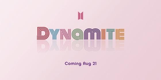 防弹少年团8月21日发新单曲 公布名《Dynamite》