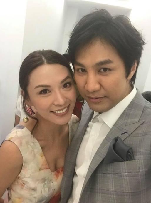 陈炜与男友陈国强合影