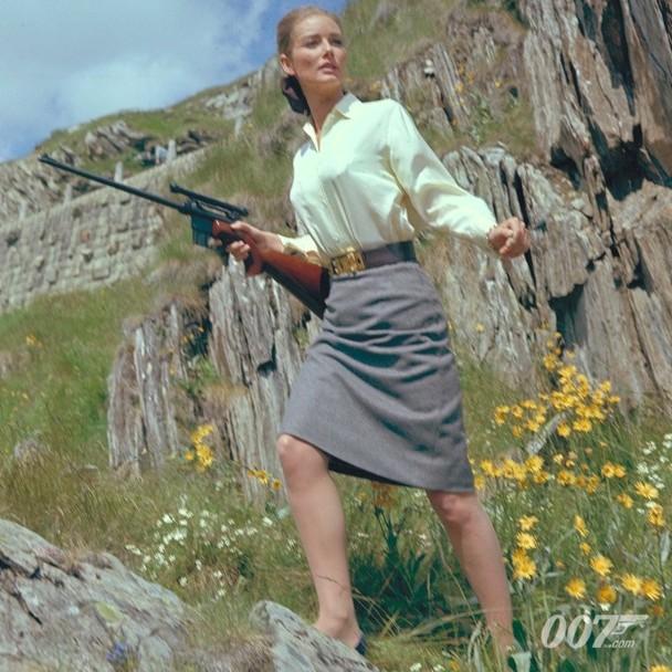 """1964年詹姆斯·邦德電影《金手指》的""""邦女郎""""坦妮婭·瑪蕾特。"""