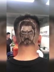 理发师剪出复联主角图案