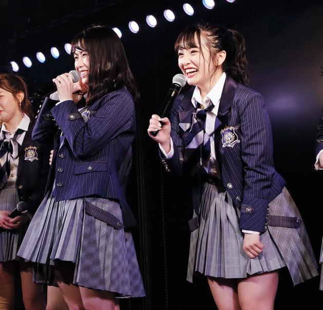 橫山由依、向井地美音參加AKB48公演