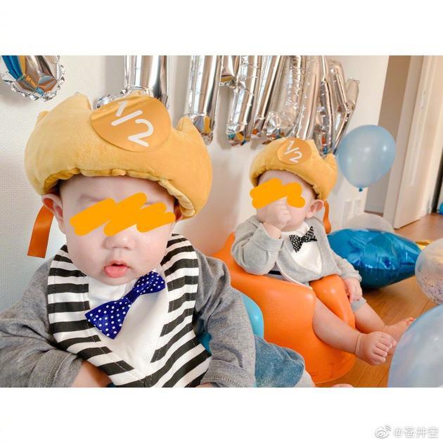 苍井空为双胞胎庆生