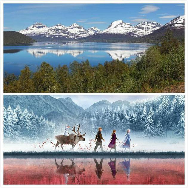 上图为挪威挪威特罗姆瑟,下图为剧照