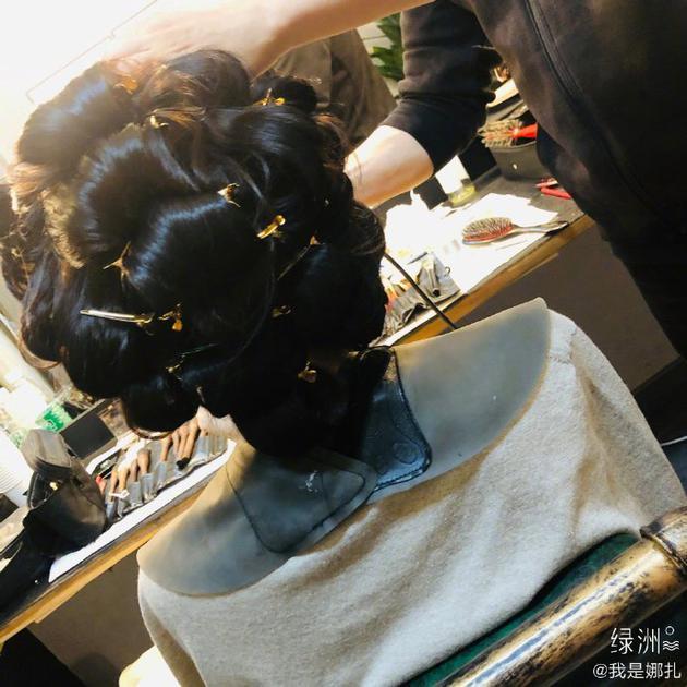 古力娜扎做发型