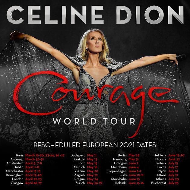 席琳-迪翁巡演欧洲站明年重启 已购票观众可改期