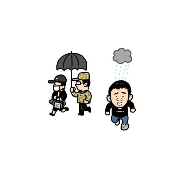 保安认错人给杨迪助理打伞