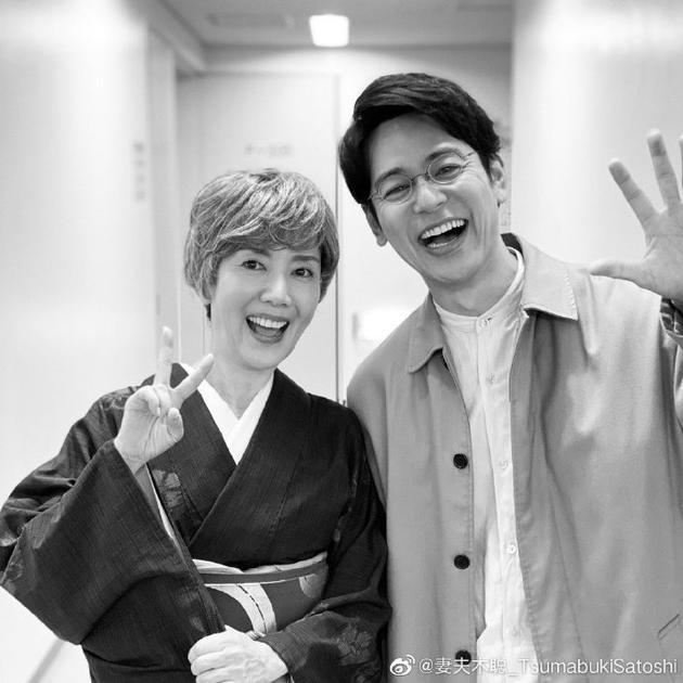 妻夫木聪户田惠子旧友相逢 两人合照比耶灿笑