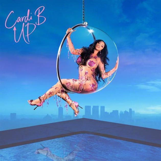 Cardi B新单曲封面释出 穿流苏服饰性感撩人