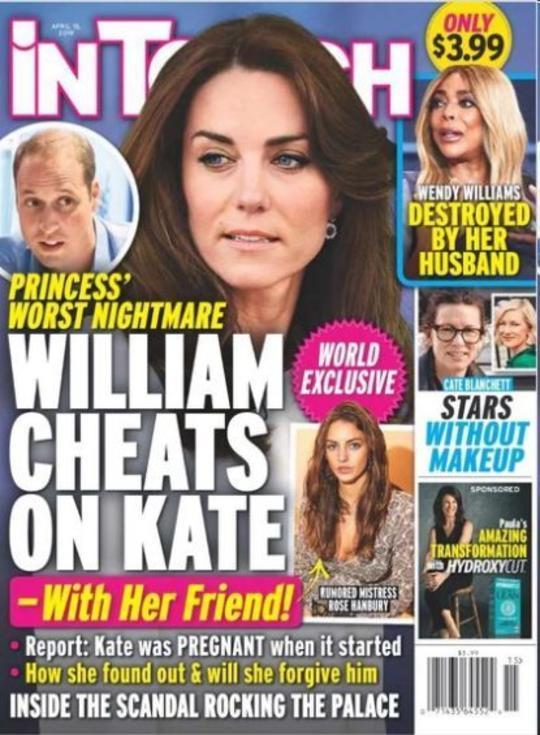 外媒曝威廉王子出轨凯特闺蜜