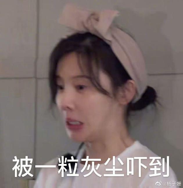 杨子姗发表情包回应重度洁癖热议