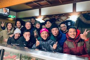 劉浩龍與眾好友赴日滑雪