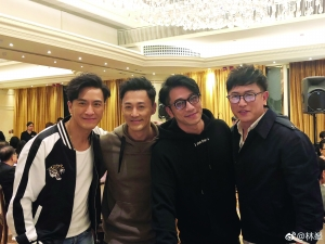 马国明、林峰、吴卓羲、陈键锋(从左至右)