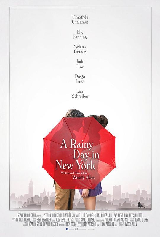 《纽约的一个雨天》海报
