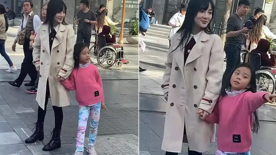 李小璐带甜馨外出游玩 自己打扮时髦女儿穿搭一言难尽