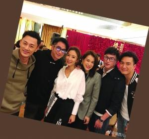 陈键峰、吴卓羲、杨怡、胡杏儿、陈键锋和马国明(从左至右)