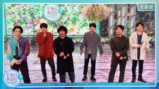 V6最后一次登FNS歌谣祭 相叶雅纪称V6为最棒组合