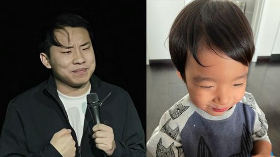谢楠晒二儿子吴老二新发型 调侃是cos徐志胜