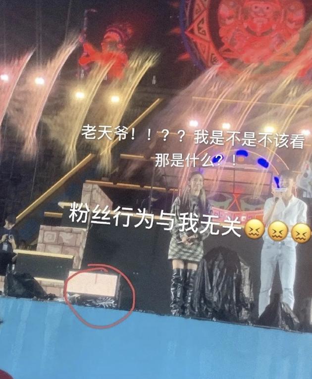 粉丝往舞台上扔bra