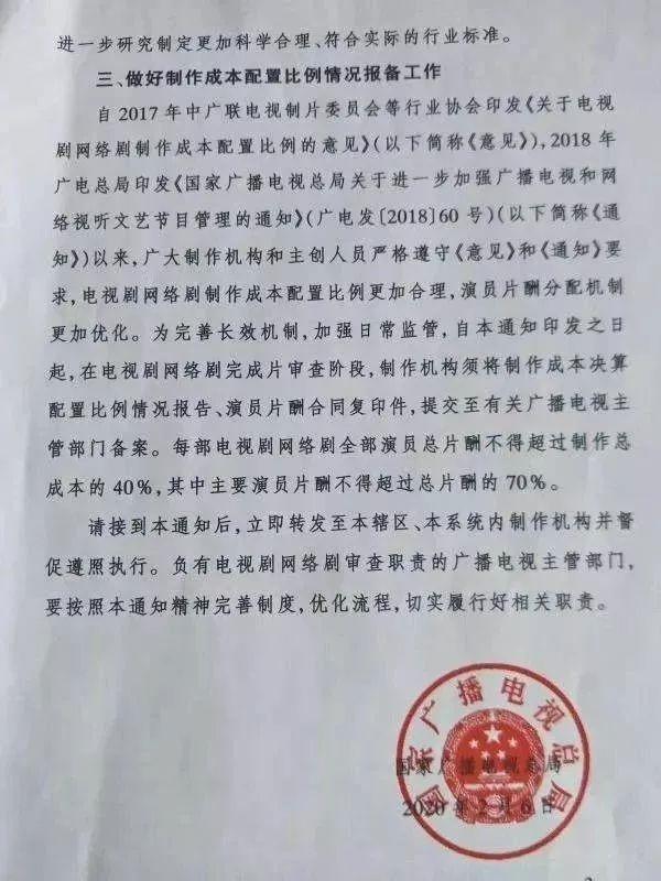 演员片酬合同复印件,提交至有关广播电视主管部门备案