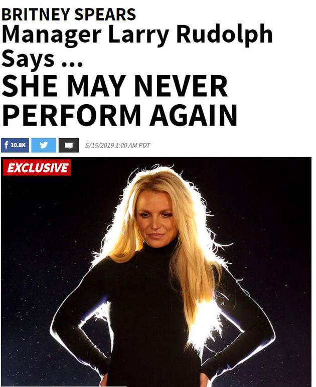 布兰妮或将永不再驻唱表演
