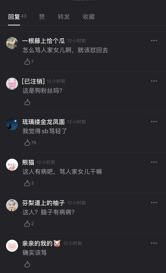 陈一冰微博回怼网友